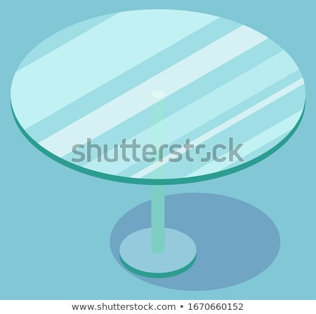 Round Glass Coffee Table, Furniture Vector Image Stock photo © robuart