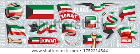 Vector ingesteld vlag Koeweit creatieve Stockfoto © butenkow