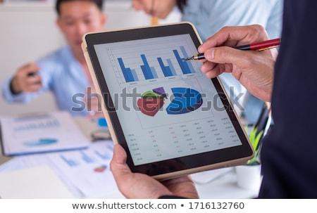 üzletember projekt elemzés adat férfi karakter Stock fotó © robuart