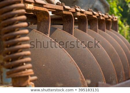 Gép eke részletek építkezés farm kerék Stock fotó © Paha_L