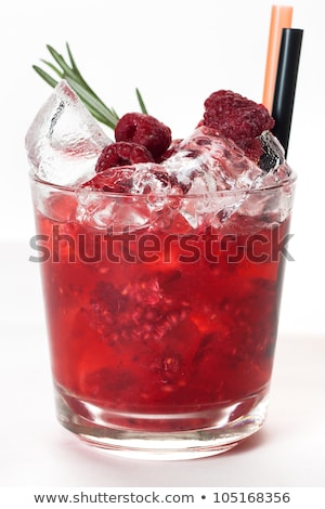 mojito · framboos · cocktail · geïsoleerd · witte - stockfoto © fanfo