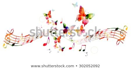 Kelebek müzik oynama çocuklar oyuncak uçmak Stok fotoğraf © Galyna