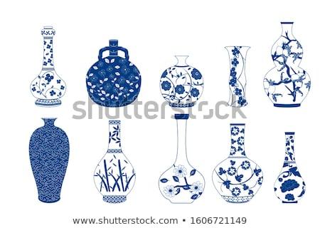 chinês · antigo · vaso · branco · projeto · beleza - foto stock © witthaya