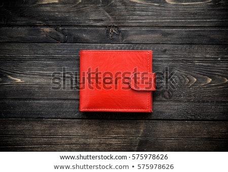 Kırmızı cüzdan para kredi kartı Stok fotoğraf © devon