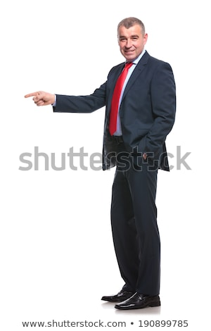 Man Pointing Forwards with Hand in Pocket Stock photo © scheriton