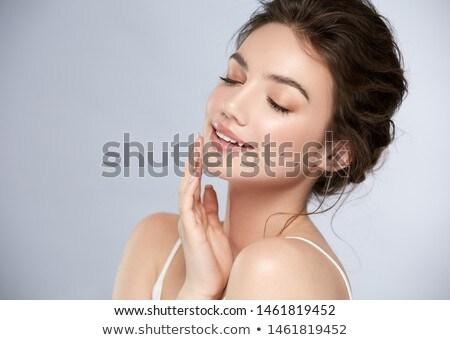 belo · sorrir · senhora · antiquado · estilo · tiro - foto stock © aetb