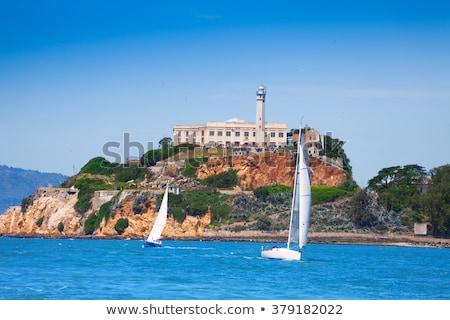 Alcatraz Island Sail Boats San Francisco California Stock photo © billperry