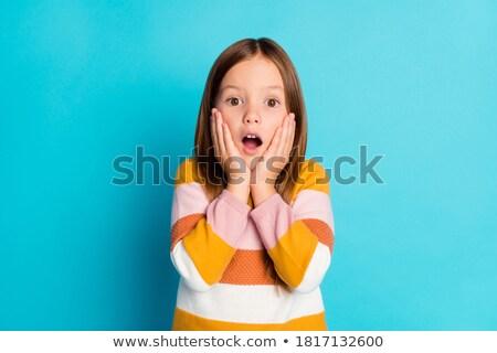 недоуменный девушки молодые Сток-фото © KMWPhotography