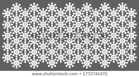 openwork handmade snowflake vector Stock photo © butenkow