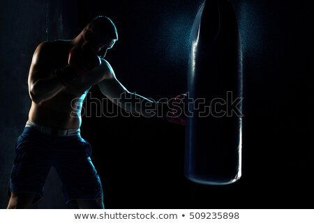 Retrato jóvenes masculina boxeador pie guantes Foto stock © wavebreak_media