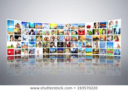 grande · pannello · tv · schermo · internet · business - foto d'archivio © lunamarina