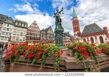 Roemerberg In Frankfurt Stok fotoğraf © vichie81