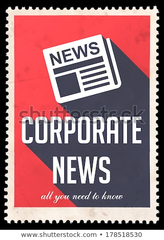 Corporate nieuws Rood ontwerp vintage lang Stockfoto © tashatuvango
