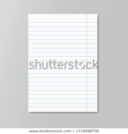 isolado · branco · papel · caderno · nota - foto stock © andromeda