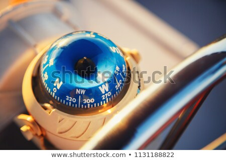 Close-up of a compass in a speedboat Stock photo © bmonteny