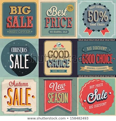 Najaar verkoop vector retro poster abstract Stockfoto © orson