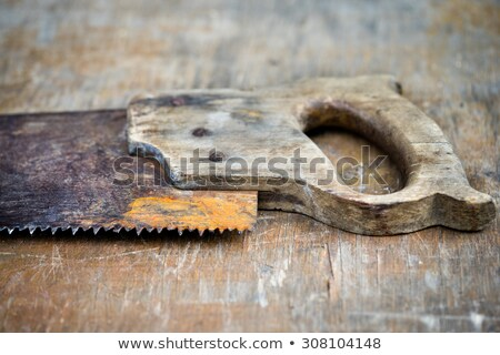 Stock photo: Rusty handsaw