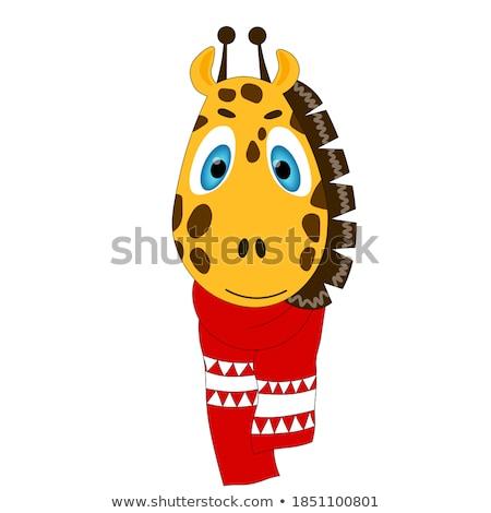 Giraffe Face emotion Icon Illustration sign design Stock photo © kiddaikiddee