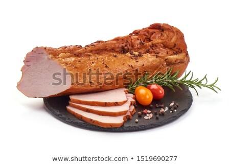 friss · pörkölt · disznóhús · hús · felszolgált · paradicsom - stock fotó © digifoodstock