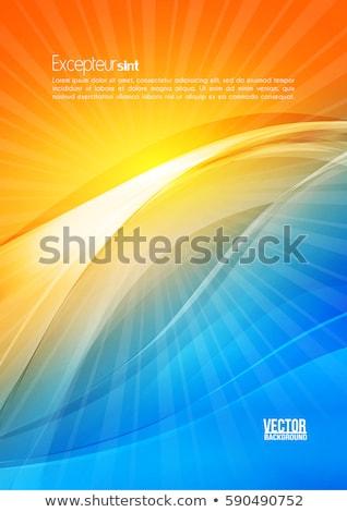abstrato · contraste · amarelo · azul · ondulado · vetor - foto stock © saicle