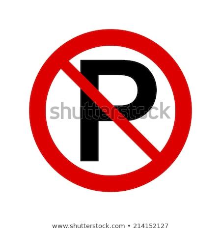 Banner kant van de weg het voorkomen voertuig parkeren Stockfoto © AlphaBaby