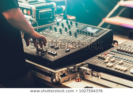 Professional Sound mixing console with knobs Stock photo © smuki