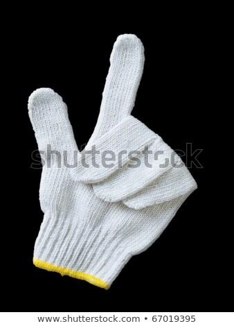 Handschoen garen display signaal witte Stockfoto © rufous
