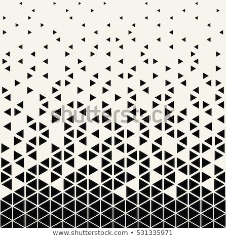 Triángulo patrón diseno medios tonos vector Foto stock © SArts