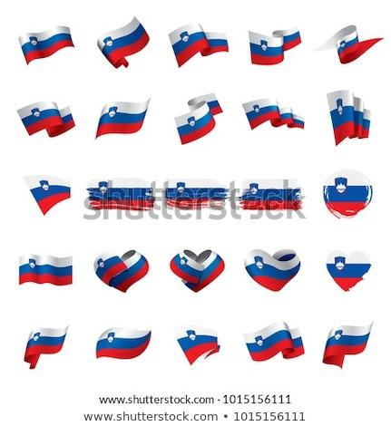 сердце флаг Словения Гранж 3d иллюстрации путешествия Сток-фото © MikhailMishchenko
