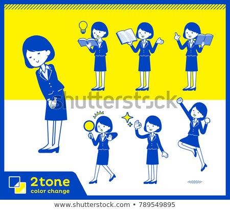 2tone type suit business women_set 5 Stock photo © toyotoyo