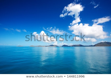 Landscape of the open sea with the island stock photo © tracer
