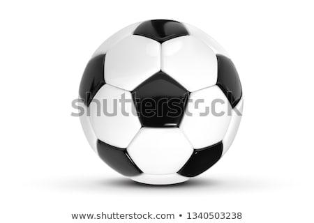 futebol · futebol · bola · preto · branco - foto stock © Wetzkaz