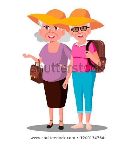 amigos · ilustração · senhora · idoso · raça - foto stock © pikepicture