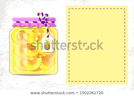 Pineapple Fruit Conservation in Decorated Jar Stock photo © robuart