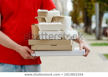 Takeaway or Carry-out Noodle and Burger Fast Food Stock photo © robuart
