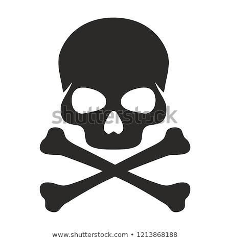 Stock photo: Skull and Crossbones Sign Illustration