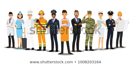 set of people with different job stock photo © colematt