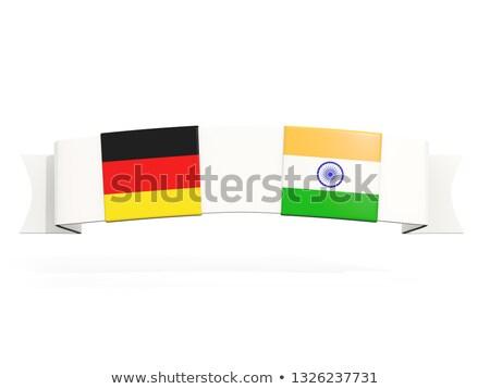 Steag doua pătrat steaguri Germania India Imagine de stoc © MikhailMishchenko