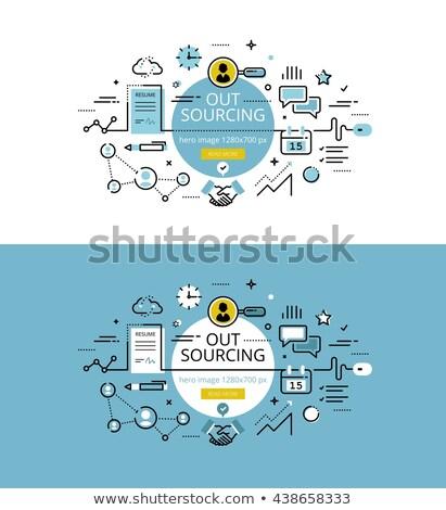 Business process management concept banner header. Stock photo © RAStudio