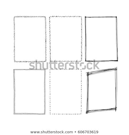 Zwarte rechthoekig frame ingesteld illustratie landschap Stockfoto © Blue_daemon