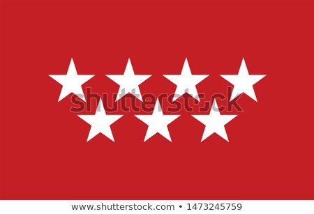 Foto stock: Community of Madrid flag