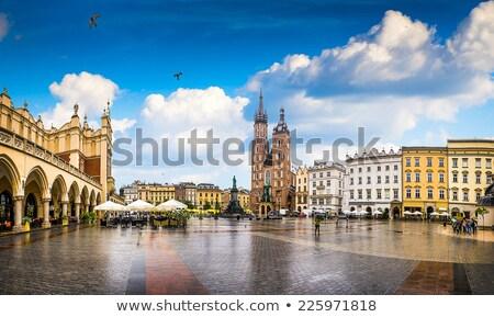 Város tér öreg Krakkó Lengyelország építkezés Stock fotó © Massonforstock