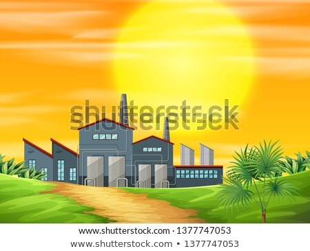 A factory ay rural scene Stock photo © bluering