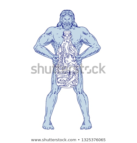 schipbreuk · octopus · kleur · illustratie · natuur - stockfoto © patrimonio