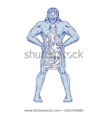 Garrafa polvo dentro desenho esboço Foto stock © patrimonio