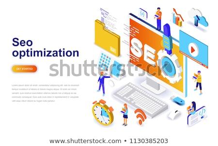 teia · internet · seo · análise · bandeira - foto stock © rastudio