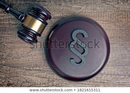 Close-up Of Gavel And Paragraph Sign In Courtroom Stock photo © AndreyPopov