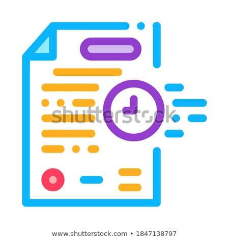 adjournment of trial date icon vector outline illustration Stock photo © pikepicture