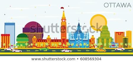 Otawa linha do horizonte azul edifícios Foto stock © ShustrikS