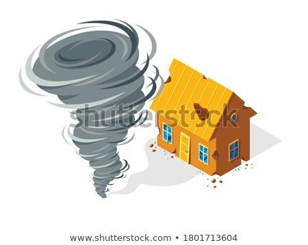 Fırtına iklim aile koruma iş ev Stok fotoğraf © yupiramos